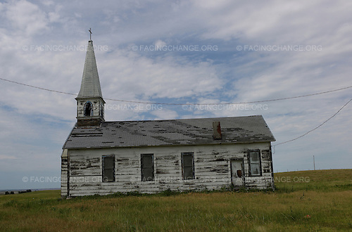 Manderson, South Dakota<br /> July 30, 2011<br /> <br /> An abandoned church outside of the small town of Manderson, on the Pine Ridge Indian Reservation.