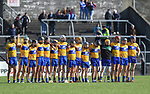 Clare stand for the anthem before their National Hurling League game against Dublin at Cusack Park. Photograph by John Kelly.