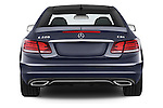Straight rear view of2013 Mercedes Benz E Class 220 2 Door Coupe Rear View  stock images