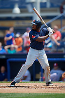 Portland Sea Dogs designated hitter Josh Ockimey (29) at bat during the second game of a doubleheader against the Reading Fightin Phils on May 15, 2018 at FirstEnergy Stadium in Reading, Pennsylvania.  Reading defeated Portland 9-8.  (Mike Janes/Four Seam Images)