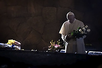 Pope Francis visits, on November 2, 2017 in the Fosse Ardeatine (Ardeatine Caves), the site of a 1944 massacre carried out by German troops occupying Rome in retaliation for a partisan attack on an SS battalion the day before.