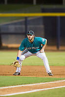 AZL Mariners first baseman Caleb Eldridge (16) on defense against the AZL Royals on July 29, 2017 at Peoria Stadium in Peoria, Arizona. AZL Royals defeated the AZL Mariners 11-4. (Zachary Lucy/Four Seam Images)