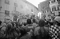Storico Carnevale di Ivrea, Battaglia delle Arance. Proclamazione dei vincitori --- Historic Carnival of Ivrea, Battle of the Oranges. Announcement of the winners