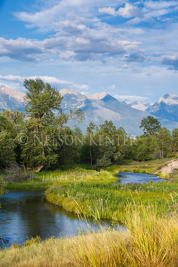 the mission mountains and mission creek in western montana