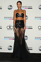 LOS ANGELES, CA - NOVEMBER 24: Rihanna, recipient of the Icon Award and winner of the Favorite Female Artist - Soul/R&B award, poses in the press room during the 2013 American Music Awards at Nokia Theatre L.A. Live on November 24, 2013 in Los Angeles, California. (Photo by Celebrity Monitor)