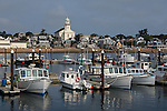 Fishing boats in Provincetown Harbor,  Provincetown, Cape Cod, Massachusetts, USA