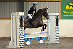Stapleford Abbotts. United Kingdom. 28 October 2018. Class 7. Christmas Extravaganza showjumping. Brook Farm training centre. Stapleford Abbotts. Essex. UK. 28/10/2018.  MANDATORY Credit Ellen Szalai/Sport in Pictures - NO UNAUTHORISED USE - 07837 394578