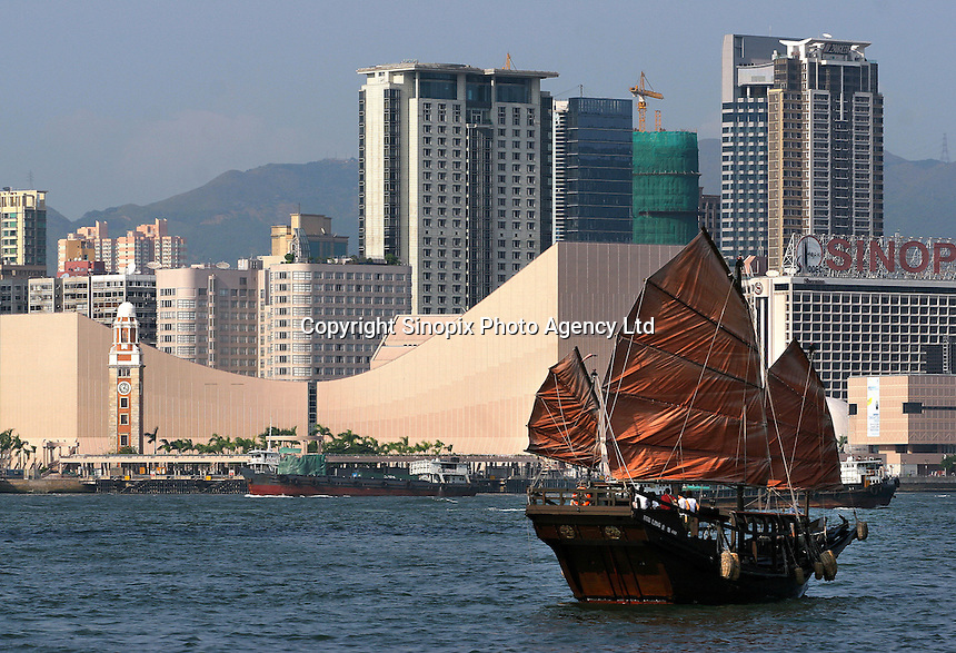 A general view of overlooking the Tsim Sha Tsui building from Hong Kong side...