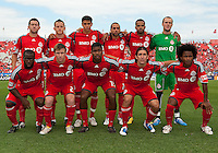 07 August 2010: Toronto FC starting eleven during a game between Chivas USA and Toronto FC at BMO Field in Toronto..Toronto FC won 2-1.