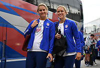 Saint Paul, MN - SEPTEMBER 03: Lindsey Horan #9, Abby Dahlkemper #7 of the United States during their 2019 Victory Tour match versus Portugal at Allianz Field, on September 03, 2019 in Saint Paul, Minnesota.
