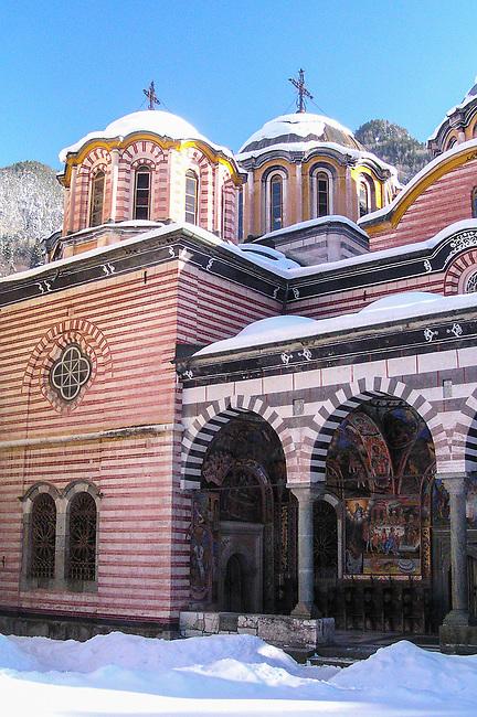 Rila Monastery Chapel Domes