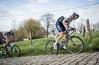 Sep Vanmarcke (BEL/Israel Start-Up Nation) up the Paterberg<br /> <br /> 64th E3 Classic 2021 (1.UWT)<br /> 1 day race from Harelbeke to Harelbeke (BEL/204km)<br /> <br /> ©kramon