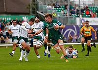 11th September 2021; Galway Greyhound Stadium, Connacht, Galway, Ireland; Pre-season rugby union, Connacht versus London Irish; Cian Prendergast on an attacking run for Connacht