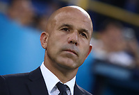 Football: Uefa under 21 Championship 2019, Italy -Poland, Renato Dall'Ara stadium Bologna Italy on June19, 2019.<br /> Italy's under 21 national team coach Luigi Di Biagio during the Italy's national anthem prior to the Uefa under 21 Championship 2019 football match between Italy and Poland at Renato Dall'Ara stadium in Bologna, Italy on June19, 2019.<br /> UPDATE IMAGES PRESS/Isabella Bonotto