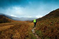 The West Highland Way near Inverarnan, Loch Lomond and the Trossachs National Park