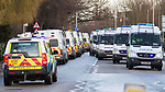 © Joel Goodman - 07973 332324 . 11/12/2010 . Peterborough , UK . Multiple police vans in the town . The English Defence League ( EDL ) hold a demonstration in Peterborough . Photo credit : Joel Goodman