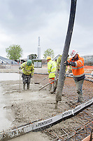 Concreteing the base for the secondary digester