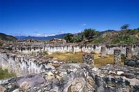 Exploring the historical ruins at Monte Alban near Oaxaca Mexico.