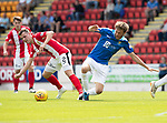 St Johnstone v East Fife…14.07.18…  McDiarmid Park    League Cup<br />Murray Davidson tackles Aaron Dunsmore<br />Picture by Graeme Hart. <br />Copyright Perthshire Picture Agency<br />Tel: 01738 623350  Mobile: 07990 594431
