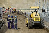 KENYA Naivasha, construction site of 140 MW geothermal power plant Olkaria IAU of KenGen the kenyan power company/ KENIA Naivasha, Baustelle 140 MW geothermisches Kraftwerk Olkaria IAU des kenianischen Energieversorger KenGen