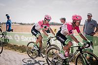 Rigoberto Uran (COL/EducationFirst-Drapac) on pavé sector #3<br /> <br /> Stage 9: Arras Citadelle > Roubaix (154km)<br /> <br /> 105th Tour de France 2018<br /> ©kramon