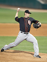 Doug Mathis #39 of the Fresno Grizzlies plays in a Pacific Coast League game against the Tucson Padres at Kino Stadium on April 20, 2011  in Tucson, Arizona. .Photo by:  Bill Mitchell/Four Seam Images.