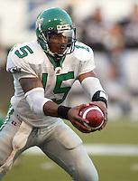 Nealon Greene Saskatchewan Roughriders quarterback 2003. Copyright photograph Scott Grant