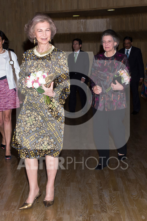 19.06.2012. Queen Sofia of Spain and her sister Irene of Grecia attend the Inaugural Concert of the Festival of Indian Classical Music and Dance 'India In Concert' in Madrid Caixaforum. In the image Queen Sofia and Irene of Grecia (Alterphotos/Marta Gonzalez)