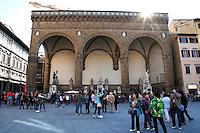 Loggia dei Lanzi<br /> Firenze 07-10-2016. Luoghi e Monumenti della citta'. <br /> Florence 7th October 2016. Places and monuments of the city.<br /> Foto Samantha Zucchi Insidefoto