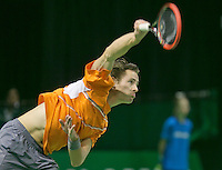 08-02-2014,Netherlands,Rotterdam,Ahoy, ABNAMROWTT , Wesley Koolhof (NED)<br /> Photo:Tennisimages/Henk Koster