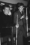 Regis Philbin and Katie Couric attends the Gene Shalit Pro Celebrity Billards Classic a Multiple Sclerosis Benefit on October 12, 1993 in New York City.