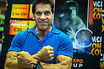 © Joel Goodman - 07973 332324. 30/07/2017 . Manchester , UK . Incredible Hulk actor Lou Ferrigno poses . Cosplayers, families and guests at Comic Con at the Manchester Central Convention Centre . Photo credit : Joel Goodman