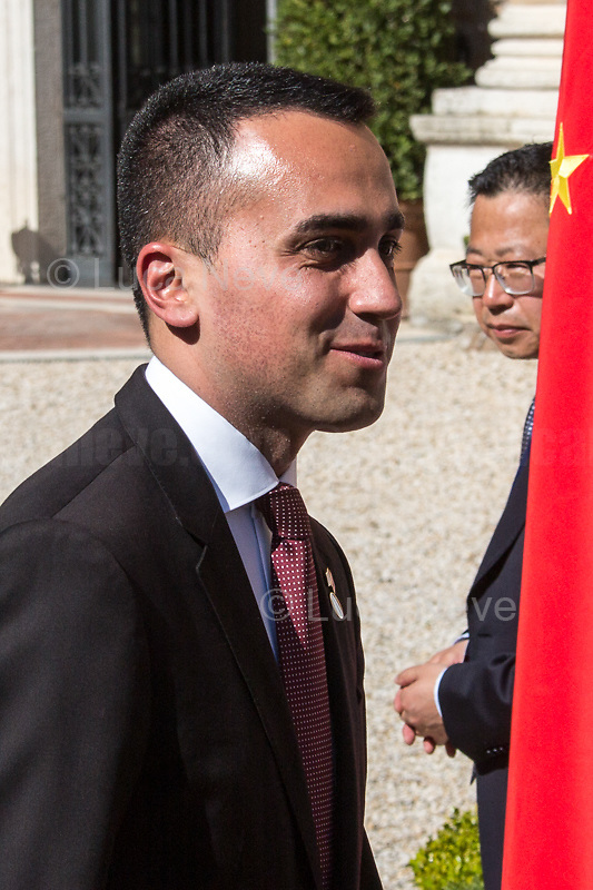 Luigi Di Maio (Deputy Prime Minister, Minister of Economic development, Labour and Social Policies, and leader of the Five Star Movement).<br />