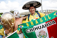 Mexico and Brazil fans
