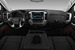Stock photo of straight dashboard view of 2017 GMC Sierra-1500 Crew-SLE 4 Door Pickup Dashboard