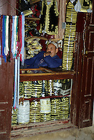 Fez, Morocco - Hat and Clothing Vendor.