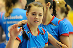 Rüsselsheim, Germany, April 13: Kaisa Alanko #10 of the VC Wiesbaden before play off Game 1 in the best of three series in the semifinal of the DVL (Deutsche Volleyball-Bundesliga Damen) season 2013/2014 between the VC Wiesbaden and the Rote Raben Vilsbiburg on April 13, 2014 at Grosssporthalle in Rüsselsheim, Germany. Final score 0:3 (Photo by Dirk Markgraf / www.265-images.com) *** Local caption ***