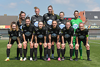 team of Woluwe with (up from L to R) : Anouck Cochez (4) of Woluwe   Hanne Mylle (29 of Woluwe   Marie Bougard (10) of Woluwe   Selina Gijsbrechts (11) of Woluwe   goalkeeper Willeke Willems (1) of Woluwe   (down from L to R) Taika De Koker (16) of Woluwe   Kenza Vrithof (9) of Woluwe   Estelle Peron (45) of Woluwe   Clotilde Codden (23) of Woluwe   Stefanie Deville (3) of Woluwe   Jana Simons (8) of Woluwe   pictured during a female soccer game between SV Zulte - Waregem and White Star Woluwe on the 10 th and last matchday in play off 2 of the 2020 - 2021 season of Belgian Scooore Womens Super League , saturday 29 of May 2021  in Zulte , Belgium . PHOTO SPORTPIX.BE | SPP | DIRK VUYLSTEKE