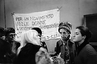 - Milano, congresso internazionale femminista sull'aborto presso l'Università Statale (Maggio 1975); al centro Adele faccio, leader del Partito Radicale e del movimento per l'autodeterminazione delle donne.<br />
