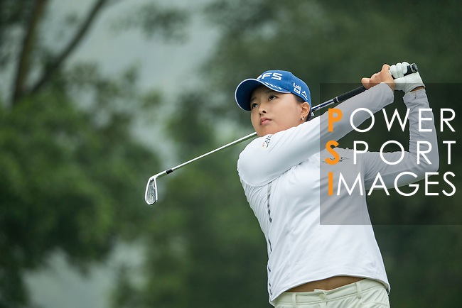 Jin Young Ko of South Korea tees off during Round 4 of the World Ladies Championship 2016 on 13 March 2016 at Mission Hills Olazabal Golf Course in Dongguan, China. Photo by Victor Fraile / Power Sport Images