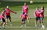 Real Madrid's Nacho Fernandez, Jese Rodriguez, Daniel Carvajal, Alvaro Arbeloa, Isco and Sergio Ramos during training session.January 30,2015.(ALTERPHOTOS/Acero)