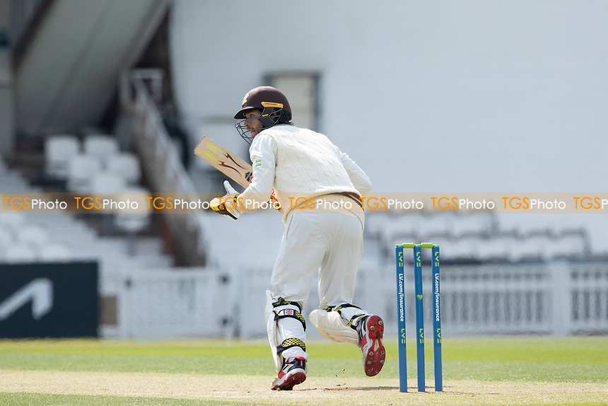 Ben Foakes of Surrey pushes into the onside and sets off for a single during Surrey CCC vs Hampshire CCC, LV Insurance County Championship Group 2 Cricket at the Kia Oval on 1st May 2021