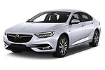 2017 Opel Insignia Grand Sport Dynamic 5 Door Hatchback angular front stock photos of front three quarter view