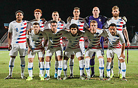 GEORGETOWN, GRAND CAYMAN, CAYMAN ISLANDS - NOVEMBER 19: United States starting eleven during a game between Cuba and USMNT at Truman Bodden Sports Complex on November 19, 2019 in Georgetown, Grand Cayman.