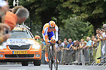 Robert Gesink (NED) Rabobank in action during Stage 19 of the 2010 Tour de France an individual time trial running 52km from Bordeaux to Pauillac, France. 24th July 2010.<br /> (Photo by Eoin Clarke/NEWSFILE).<br /> All photos usage must carry mandatory copyright credit (© NEWSFILE | Eoin Clarke)