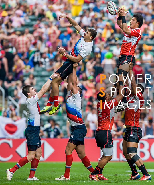 Japan vs Russia on Qualifier Semi Final during the Cathay Pacific / HSBC Hong Kong Sevens at the Hong Kong Stadium on 30 March 2014 in Hong Kong, China. Photo by Juan Flor / Power Sport Images