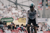 Mikel Landa (ESP/SKY) after finishing his TT which strands him within 1 second off the Paris GC podium...<br /> <br /> 104th Tour de France 2017<br /> Stage 20 (ITT) - Marseille › Marseille (23km)