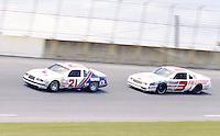 Buddy Baker 21 Ricky Rudd 3 action Firecracker 400 at Daytona International Speedway in Daytona Beach, FL on July 4, 1983. (Photo by Brian Cleary/www.bcpix.com)