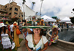 The annual hat contest on opening day at Del Mar Thoroughbred Club in Del Mar, CA.  July 20, 2011