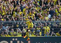 Dortmund, Germany, 1. Football  BL,  match day 31 ,<br /> Borussia Dortmund vs Bayer Leverkusen 4-021. 04 .2018  Signal - Iduna Park stadium  in Dortmund <br /> Jadon Malik SANCHO (BVB)  1-0  *** Local Caption *** © pixathlon<br /> Contact: +49-40-22 63 02 60 , info@pixathlon.de